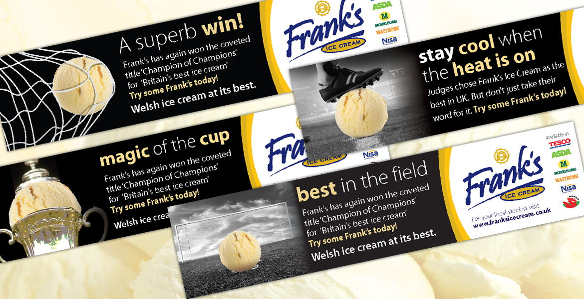 Frank's Ice Cream Ltd football-ads