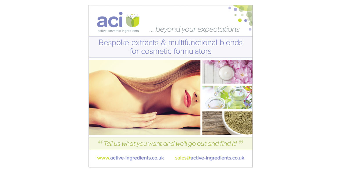 Active cosmetic ingredients exhibition poster