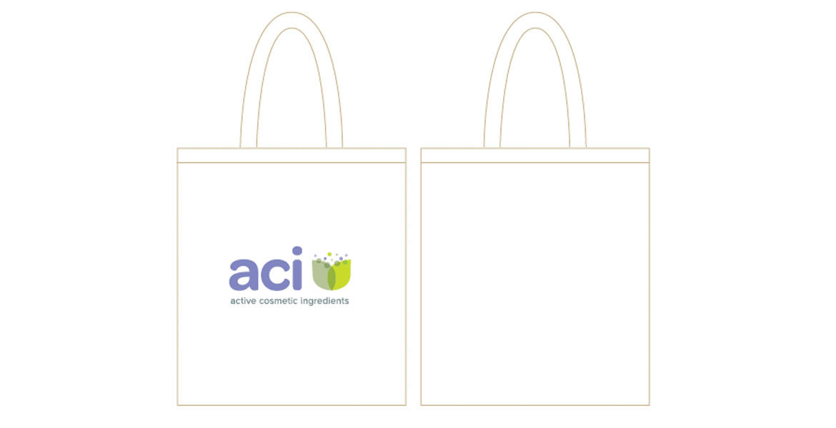 Active cosmetic ingredients promotional bag