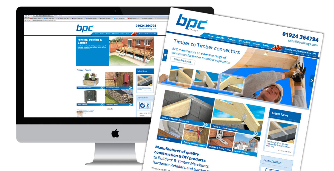 BPC website onscreen