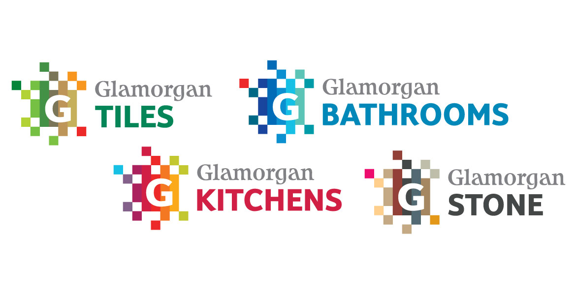 Glamorgan tiles and sub brands logos